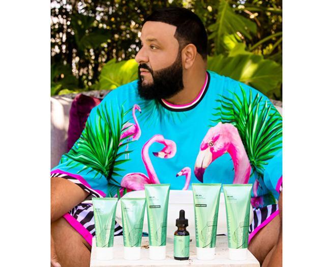 DJ Khaled in a green shirt